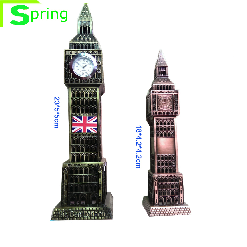 2size of metal gift london souvenir big ben clock model <strong>craft</strong>