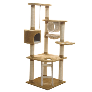 Wooden Sisal Oem Manufacturer Wholesale Customized Pet Furniture bucket house Cat tree