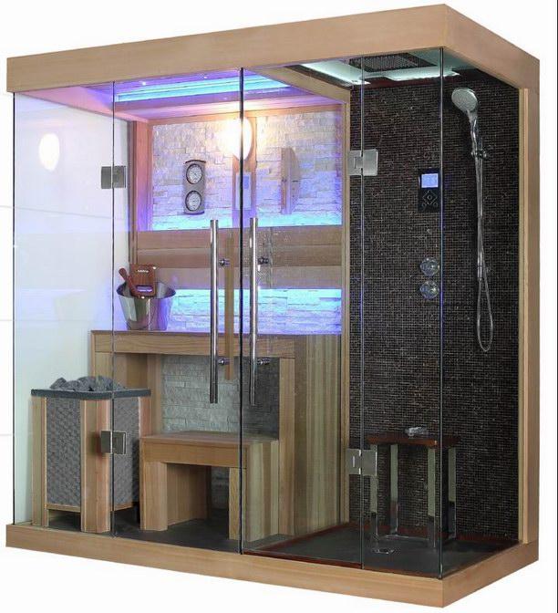 Sala de cedro rojo sauna con calentador de harvia sauna tradicional para house dise os salas de - Calentador de sauna ...