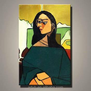 Fait Main Moderne Pablo Picasso Mona Lisa