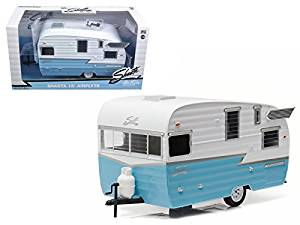 Shasta Airflyte 15' Camper Trailer Blue for 1/24 Scale Model Cars and Trucks 1/24 Model by Greenlight