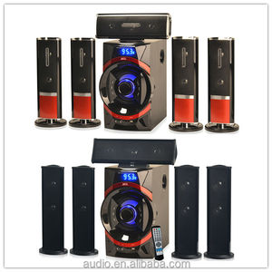 new design blue 2.1 home theater bass speaker with fm radio stereo sound system