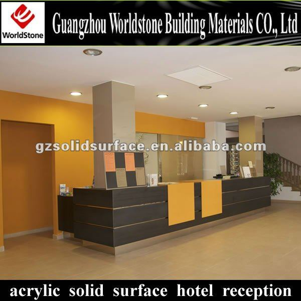 luxury reception table/hotel furniture marble reception desk front desk