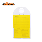 Customize PVC material green warning plastic tag with colorful label for safety construction