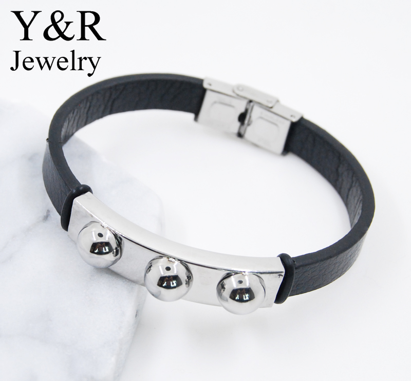 mens hip hop jewelry designs stainless charms mens leather bracelet