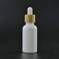 Cosmetic 5ml 10ml 15ml 20ml 30ml 50ml 100ml essential oil matte white frosted glass dropper bottle with kraft paper tube