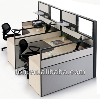 Modern High Wall Cubicle Office Workstation Furniture Design (FOH BW A2L1414T)
