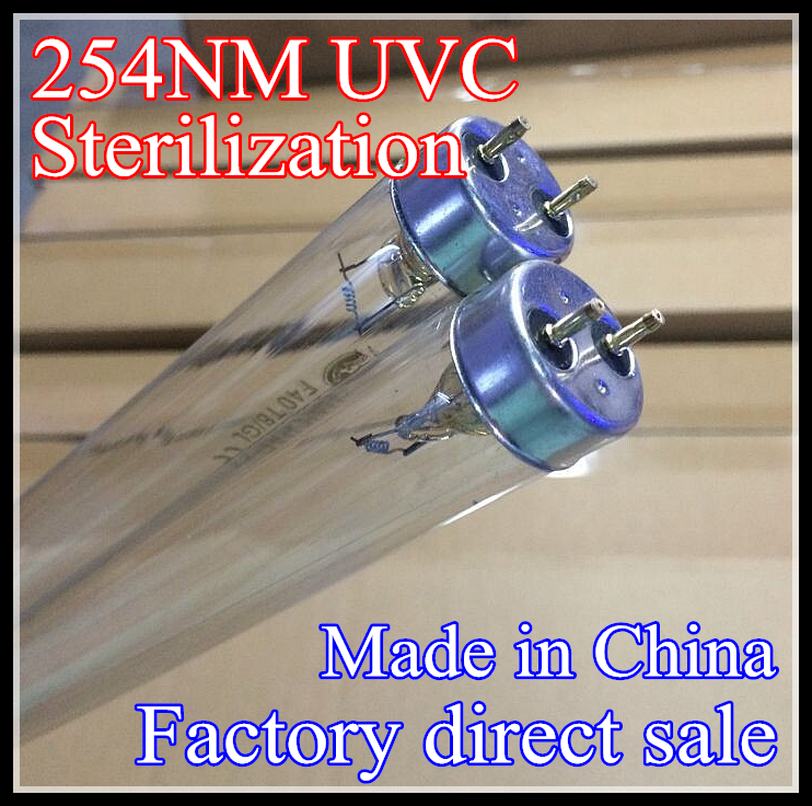 Germicidal UV lamp tube F4F6F8T5 G5 254nm UVC lamp for sterilization