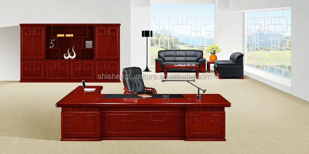 Klassische Design Buromobel Ceo Schreibtisch Holz Buro Chef Tisch