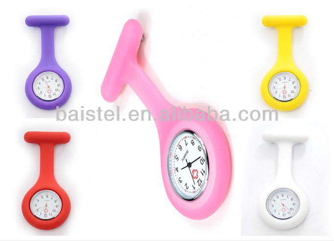 Waterproof Silicone Nurse Watch Clip Watches for Doctor Watch