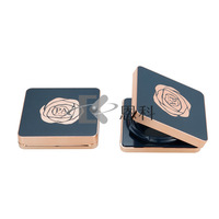 New style cosmetic square box air cushion compact powder case bb foundation case