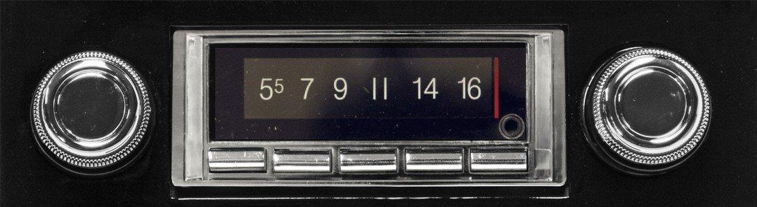 1967-1968 Chevrolet Impala 300 watt Custom Autosound USA-740 AM FM Car Stereo/Radio with built-in Bluetooth, AUX Inputs, Color Change LCD Digital Display