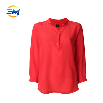 Stand Collar Blouse Designs : Wholesale new season ladies blouse designs sleeve stand collar