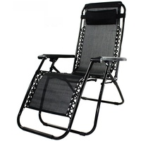 folding outdoor zero gravity beach chaise lounge chair