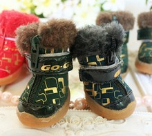 Luxury Pet Winter Fluffy Shoes Dogs Boots Shoes Pet Accessories Wholesale Pets And Dogs Products