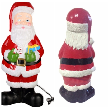 2018 high quality christmas decoration blow mold lighted outdoor plastic santa claus - Blow Mold Plastic Outdoor Christmas Decorations