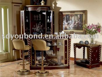 0026 Italy Classic Wooden Furniture Antique Bar Set