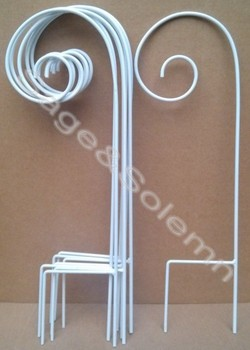 Attractive White Color Decorative Metal Garden Hanging Shepherd HookS