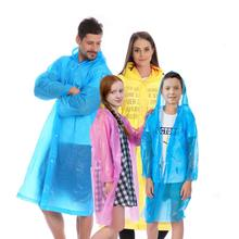 PEVA rain poncho recycle EVA rain coat poncho with buttons raincoat raincoats