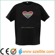led equalizer t-shirt,many style available and customerized acceptable,flashing/sound activated led equalizer t-shirt