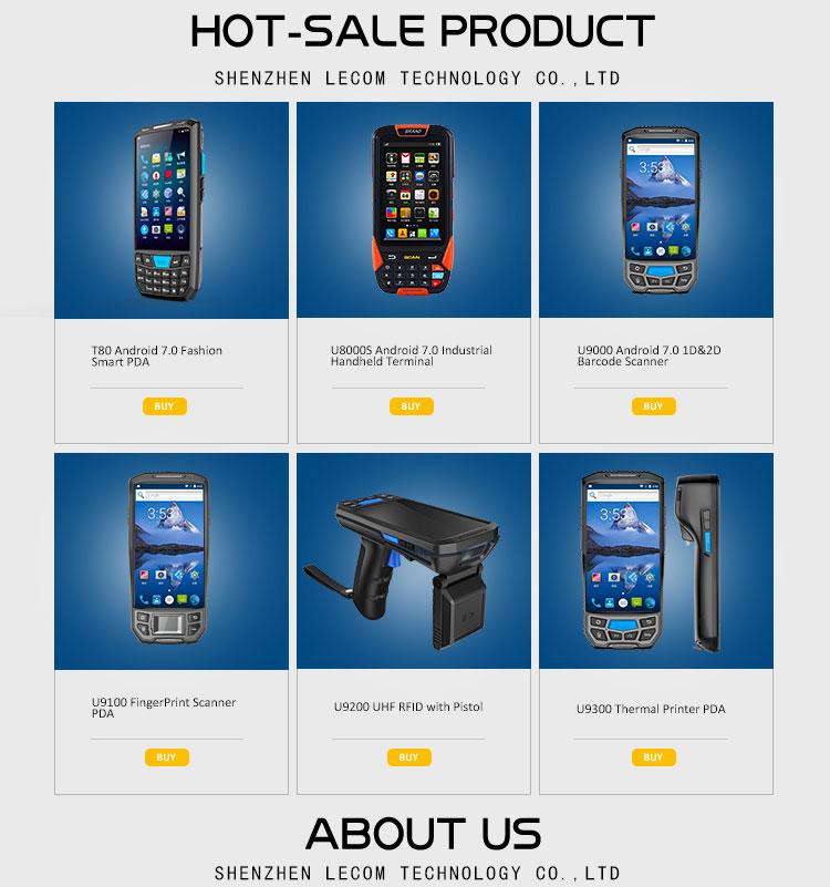 Blovedream U9100 5 polegadas tablet pc pda scanner de código de barras com teclado android 9.0 honeywell