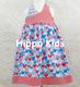 Wholesale children frocks designs 2016 patriotic 4th of July dresses girls halter dress