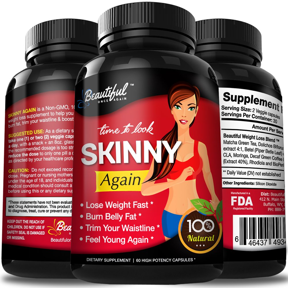 Diet Pills Skinny Again Lose Weight Fast Safe Non Gmo Gluten Free Appetite Suppressant 100 Natural Weight Loss Diet Pills That Work Fast