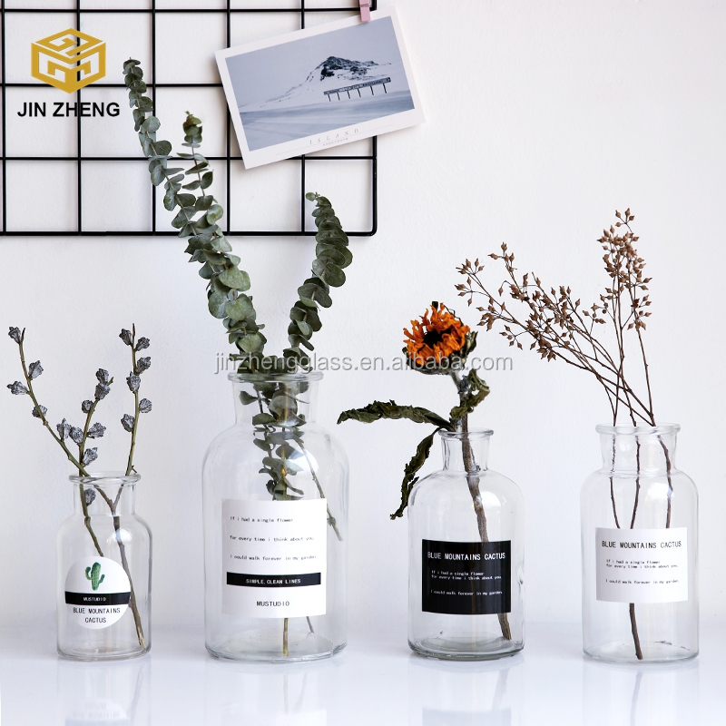 Clear Mercury Glass Vase For Christmas Decoration Gifts Buy Popular Decorative Accessories Flower Vases Hydroponic Container Clear Mercury Glass