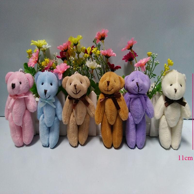 949c0af5ef5 2019 Wholesale Joint Teddy Bear Plush Toy Doll 11CM Small Wedding ...