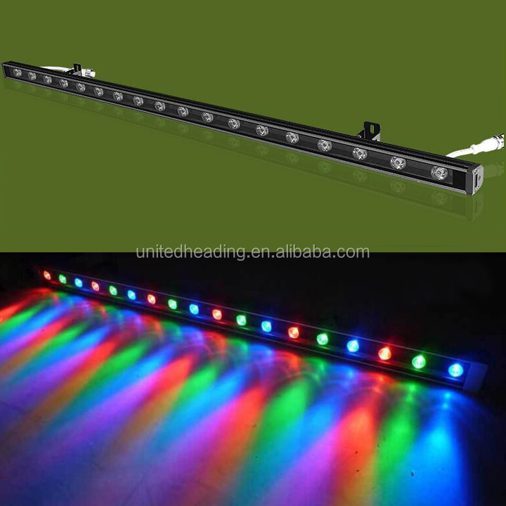 high quality outdoor IP65 DC24V 36W RGB DMX 512 Led Wall Washer