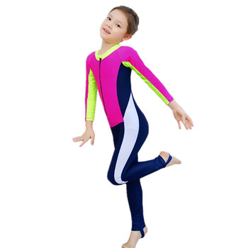 fe63323c3223a Cheap Girls Swimming Costumes Jumpsuits Swimwear long-sleeved Surfing suit  Swimsuit