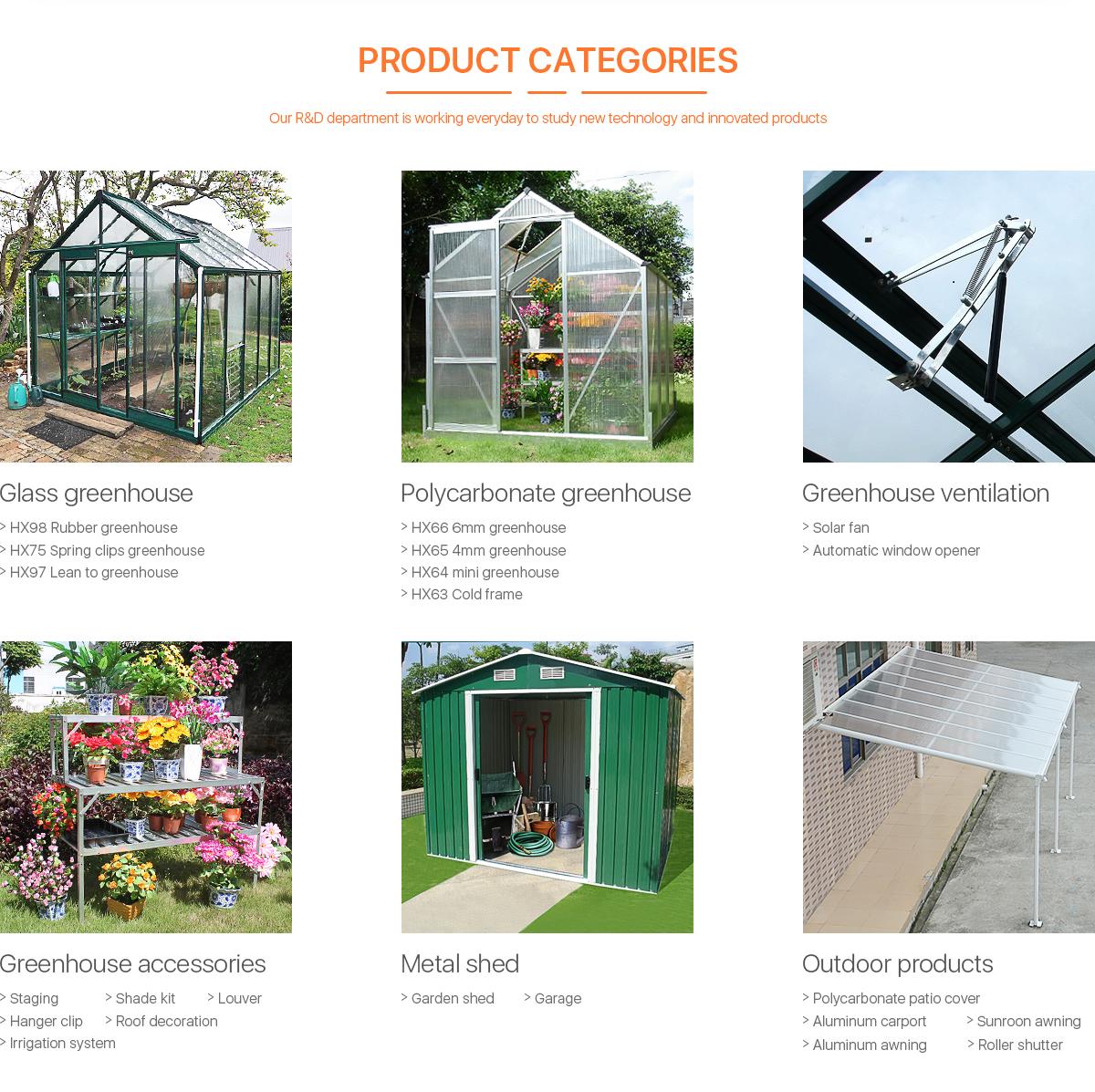Huixin Metal Products Co., Ltd. - Greenhouse, Window Opener
