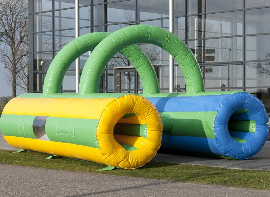 PVC tarpaulin 6m Inflatable Tunnels Crawl game for kids