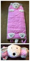 children kids baby cartoon portable sleeping bag/ baby dog shape nap mat slumber bag boys girls new