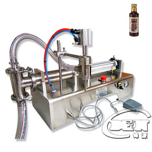 semi-auto horizontal pneumatic liquid filling machine for shampoo lotion and grease