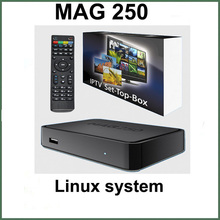 5pcs Mag250 linux system IPTV Set Top Box HD 1080p Satellite Receiver supportlan wifi youtube Mag250 support wifi adapter mag254
