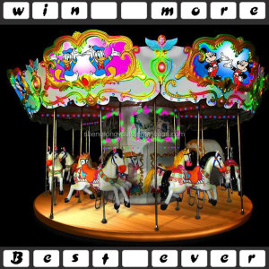 high quality cheap amusement park rides carousel, kids carousel horses for sale