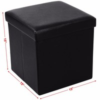 Organizer storage foldable chair ottoman cube