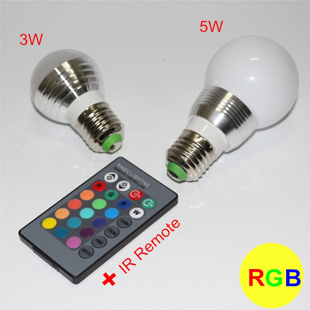 factory price wholesale rgb led bulb e27 3w 5w 110v 220v 16 colors change led rgb lamp light. Black Bedroom Furniture Sets. Home Design Ideas