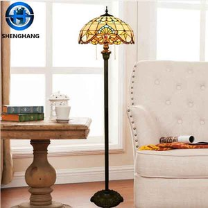 Real Tiffany lamp high quality tiffany mosaic floor Lamp