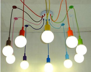 Silicone colorato luci del pendente diy multi color e