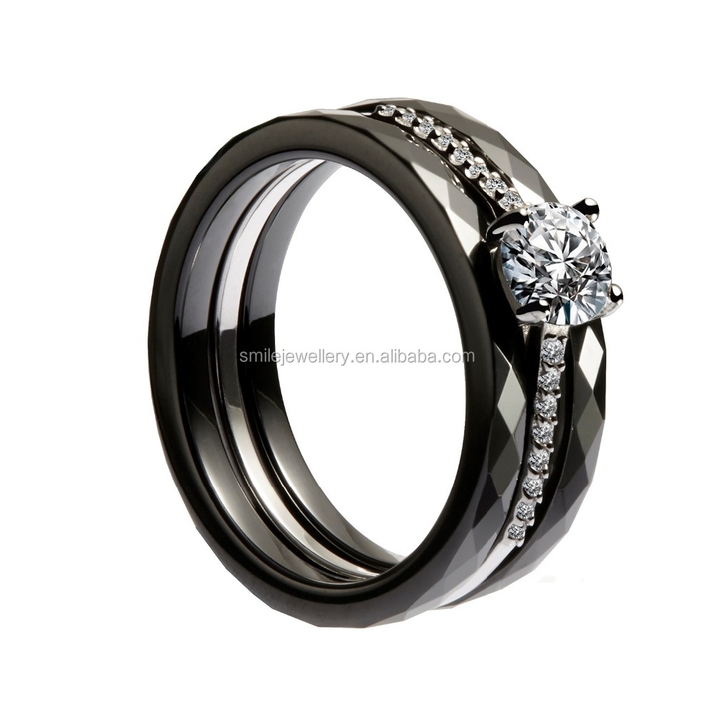 a women white zircon design ceramic simple bands cute black n rings cabochon amp men huge arrival product setting for new wedding unique