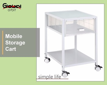 Storage Organization Mobile K/D Office Drawer Cart With Wheels