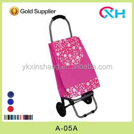 Shipping rates from china to usa pink color mini shopping cart with new handle