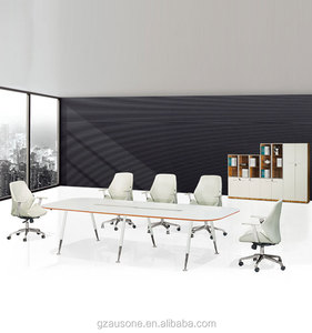 Fashion melamine white color office meeting room conference table