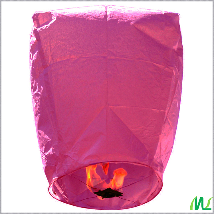 Meilun Art Crafts Eco-Biodegradable 17g flame retardant paper colorful  Oval paper Sky Lantern for Wedding favor or party supply