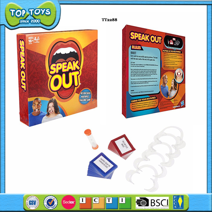 speak out game interesting board game mouthpieces halloween christmas