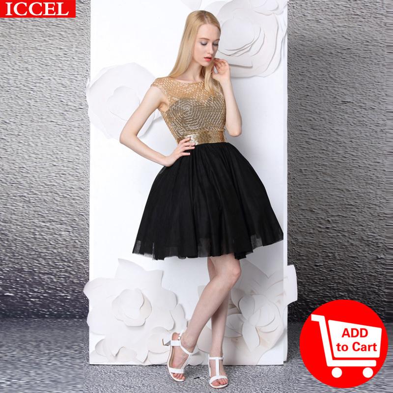 Women-Summer-Party-Black-Dress-Hand-made-Diamonds-Black ...