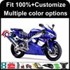 INJECTION MOLDING panels 2002 2003 YZFR1 blue Silvery white YZF-R1 2003 2002 Custom Fairing Fit For yamaha YZF R1 2002 2003
