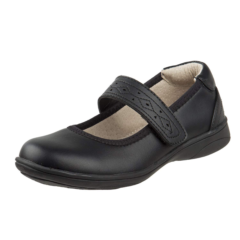 78b6d053c Get Quotations · Laura Ashley Girls Hook and Loop School Uniform Shoes  (Toddler/Little Kid/Big